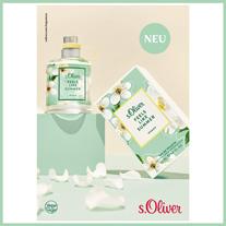 S.Oliver FEELS LIKE SUMMER führt dich an strahlenden Sommertagen über duftende Blumenfelder.